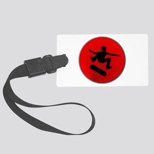 Red Skater Large Luggage Tag