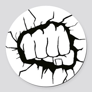 Punch Round Car Magnet