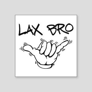 "Hang Loose Lax Bro Square Sticker 3"" x 3"""