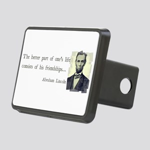 quotable Abe Lincoln Rectangular Hitch Cover