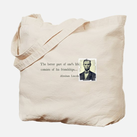 quotable Abe Lincoln Tote Bag
