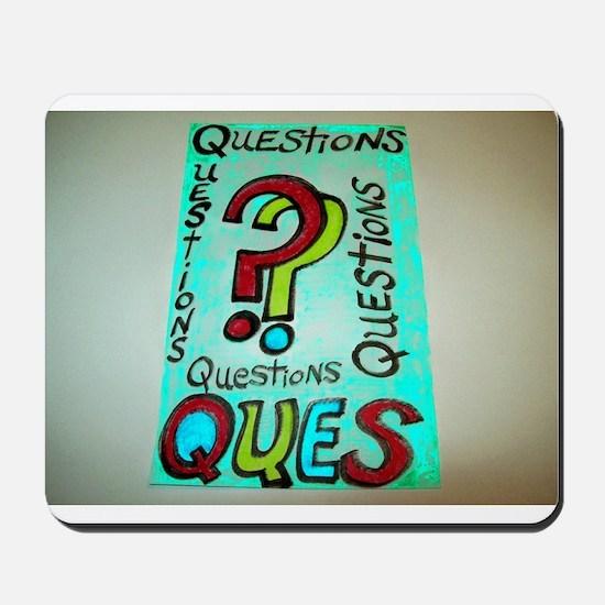 QUESTIONS cartoon design. Mousepad
