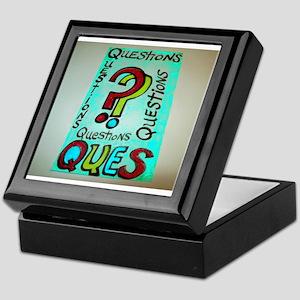 QUESTIONS cartoon design. Keepsake Box