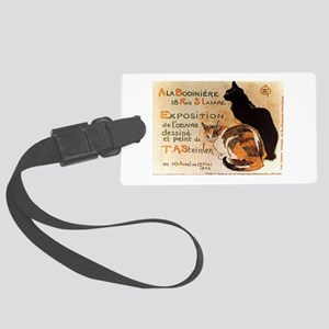Black and Calico Cat Large Luggage Tag