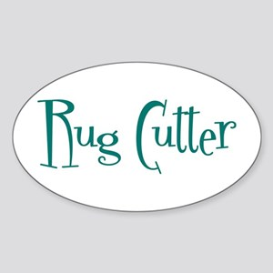 Rug Cutter Oval Sticker