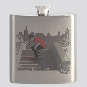 8 stair red Flask