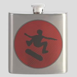 Red Skater Flask