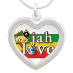 Jah Love Silver Heart Necklace