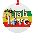 Jah Love Round Ornament