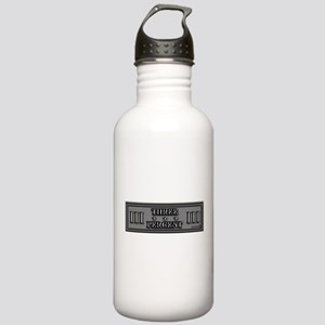 Three Percent Silver Bumper Stainless Water Bottle