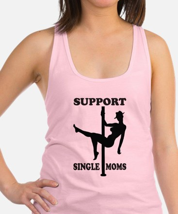 Support Single Moms Racerback Tank Top