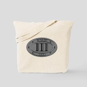 Molon Labe Oval Tote Bag