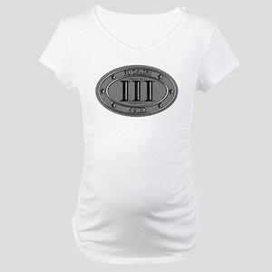 Molon Labe Oval Maternity T-Shirt