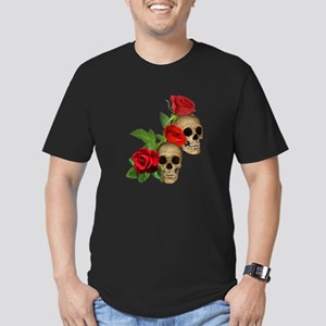 Skulls Roses Men's Fitted T-Shirt (dark)