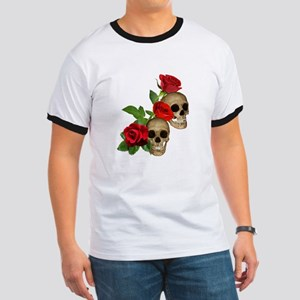 Skulls Roses Ringer T