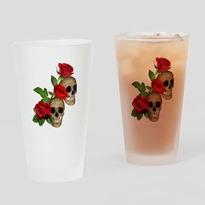 Skulls Roses Drinking Glass