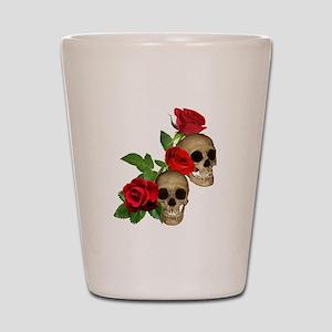 Skulls Roses Shot Glass