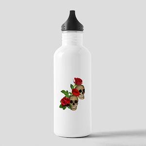 Skulls Roses Stainless Water Bottle 1.0L
