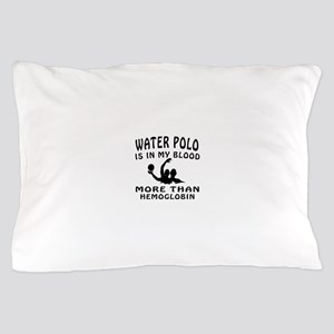 Water Polo Designs Pillow Case