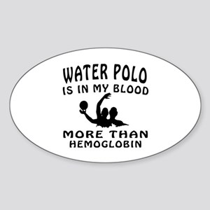 Water Polo Designs Sticker (Oval)