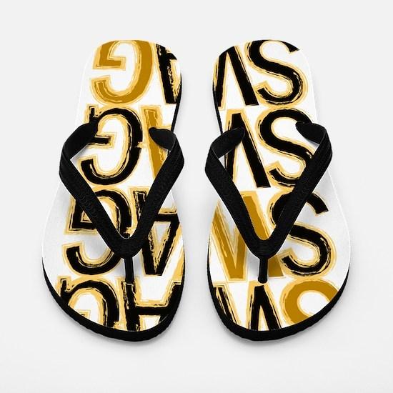 Swag (Gold) Flip Flops