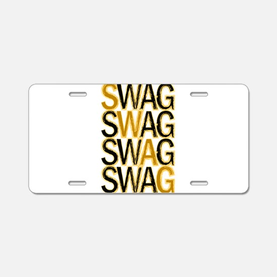 Swag (Gold) Aluminum License Plate