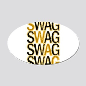 Swag (Gold) 20x12 Oval Wall Decal