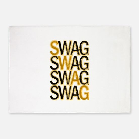 Swag (Gold) 5'x7'Area Rug