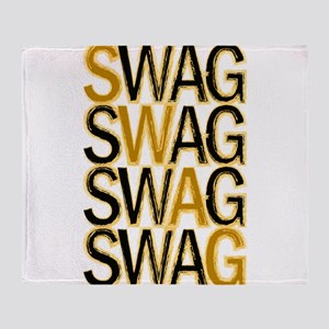 Swag (Gold) Throw Blanket