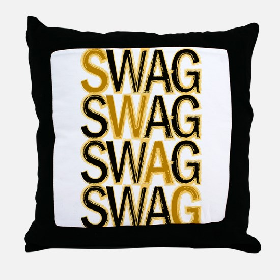 Swag (Gold) Throw Pillow
