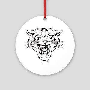Wild Cat Ornament (Round)