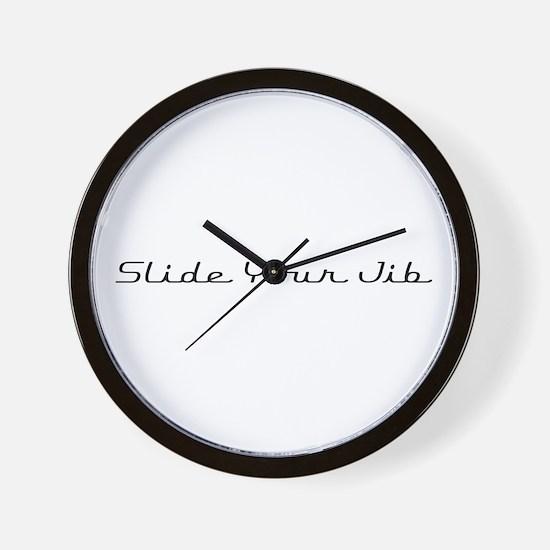 Slide Your Jib Wall Clock