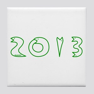 2013 Snake Year Tile Coaster