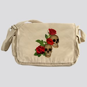 Skulls Roses Messenger Bag