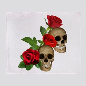 Skull And Roses Blankets Cafepress