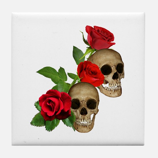 Skulls Roses Tile Coaster