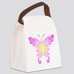 Tribal Butterfly Canvas Lunch Bag