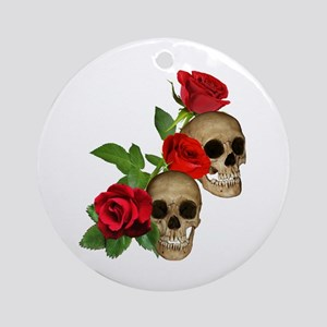 Skulls Roses Ornament (Round)