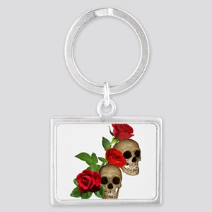 Skulls Roses Landscape Keychain