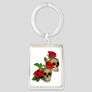 Skulls Roses Portrait Keychain