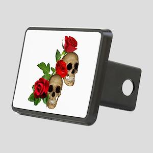 Skulls Roses Rectangular Hitch Cover