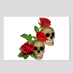 Skulls Roses Postcards (Package of 8)