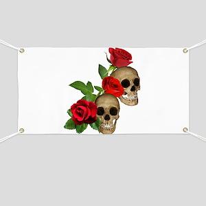 Skulls Roses Banner