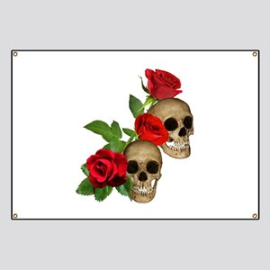 Skull And Roses Banners Cafepress