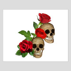 Skulls Roses Small Poster