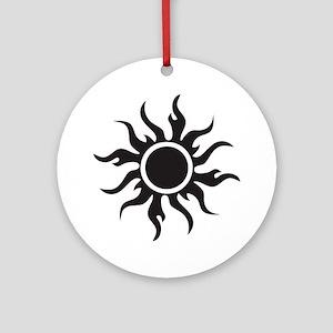 Tribal Sun Ornament (Round)