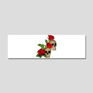 Skulls Roses Car Magnet 10 x 3