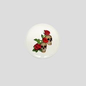 Skulls Roses Mini Button