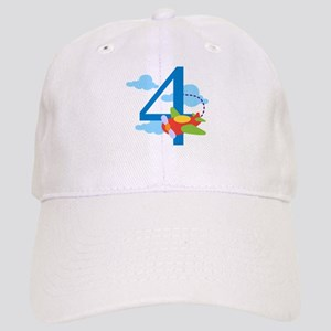 4th Birthday Airplane Cap