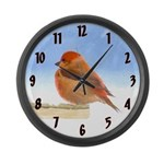 Scarlet Tanager Large Wall Clock